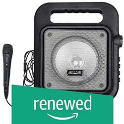 (Renewed) Mitashi PS 6510 BT Portable Karaoke Bluetooth Party Speaker with Mic/USB/AUX/Flashing Light/Recording Function(Grey) Rs.1444 @ Amazon