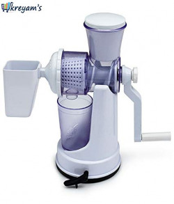 Kreyam's Manual Fruits & Vegetable White Juicer with Cup