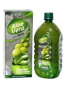 Herbal Trends Aloe Vera With Amla Juice-1000Ml- Super Energizer - Pure- From Himachal Pardesh