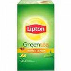 Lipton Honey, Lemon Green Tea Bags Box (100 Bags)