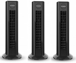 Crompton Air Buddy Kitchen Pack of 3 0 mm Tower Fan(Black, Pack of 3)