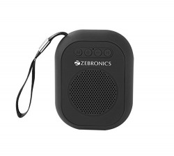 Zebronics Portable Bluetooth Speaker with Micro SD Card, USB, Call Function and FM - SAGA (Black)