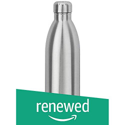(Renewed) Amazon Brand - Solimo Double Walled Insulated Stainless Steel Flask (1000 ml)