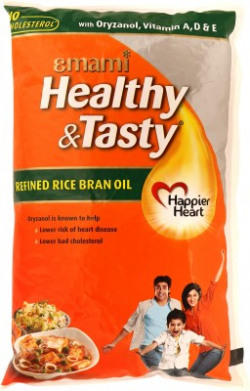 Emami Healthy & Tasty Refined Rice Bran Oil Pouch(1 L)