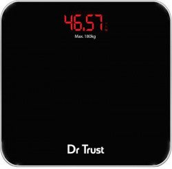Dr. Trust (USA) Eco Zeus Rechargeable Digital Personal Weighing Scale Electronic Weight Machine For Human Body Weighing Scale(Black)