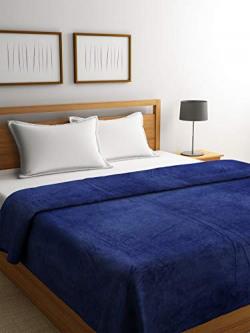Chic Home Fleece Double Blanket - Navy Blue