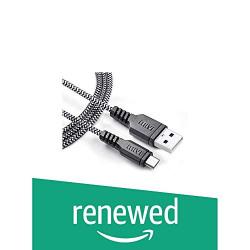 (Renewed) Mivi UC3BK-BK Khali Tough Micro USB Cable - 3.2 Feet (0.97 Meters) - (Black)