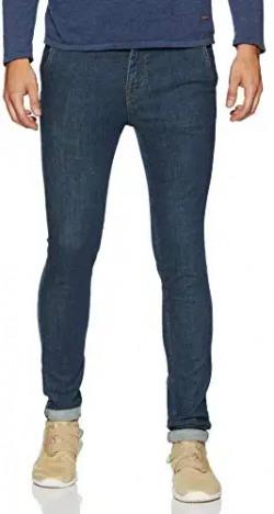 ABOF Men's Slim Fit Jeans (BOS19AMCWJS1009253_Dark Blue_34)
