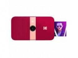 KODAK Smile Instant Print Digital Camera - Slide-Open 10MP Camera w/2x3 Zink Paper, Screen, Fixed Focus, Auto Flash & Photo Editing - Red