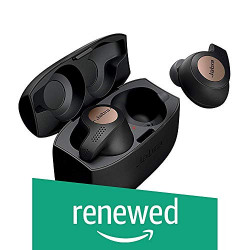 (Renewed) Jabra Elite Active 65t Amazon Edition True Wireless Sports Earbuds with Charging Case - Copper Black