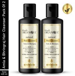 Khadi Organique Amla & Bhringraj Shampoo for Dandruffcare Men & Women  (420)