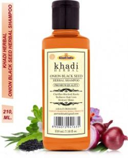 Khadi Herbal Onion Black Seed Shampoo Clarifies Blocked Roots Reduce Hair Fall (Pack Of-1) Men & Women(210 ml)