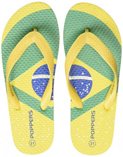 Poppers by Pantaloons Boy's Yellow Slippers-11 Kids UK (31 EU) (880000993)