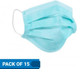 Flipkart SmartBuy Health+ Surgical Mask SM-15 Surgical Mask With Melt Blown Fabric Layer(Blue, Free Size, Pack of 15, 3 Ply)