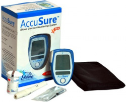 AccuSure Glucose Monitor With 25 Strips Glucometer(Blue)