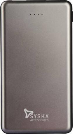Syska 10000 mAh Power Bank (Fast Charging, 37 W)  (Grey, Lithium Polymer)