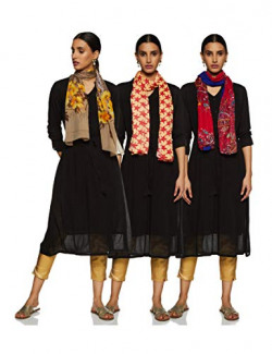 Krave Women's Synthetic Scarf (Pack of 3) (AW18KRAVE_3SCF120805_Multicoloured_Fs)