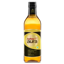 Saffola Aura Extra Virgin Olive and Flaxseed Oil, 1L