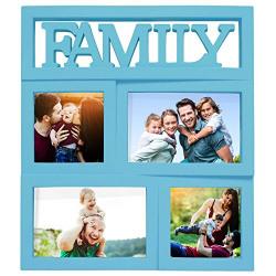 Story@Home Family Plastic Photo Frame Collage (30 cm x 30 cm x 3 cm, Light Blue)