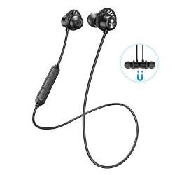 HolyHigh Neckband Bluetooth Earphones Headphones for Sports with Mic HD Stereo Sound IPX5 Sweatproof Wireless Earphones in Ear 10H Battery Life Hands Free Call Magnetic Lock Earbuds for iOS Adnroid Mobile(SP604)