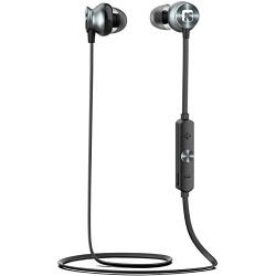 Syvo AlphaX Bluetooth 5.0 Wireless IPX4 Water Resistant Sports Earphones in-Ear Headphones with Microphone Stereo Sport Headsets for All Andriod & iOS Smartphones (Black)