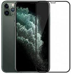 BEHAV Full Glue Edge-to-Edge 9H Hardness 11D Tempered Glass for Apple iphone 11 Pro Max (Black)