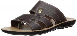 BATA Men's Trend CT Brown Flip Flops Thong Sandals-8 (8714575)