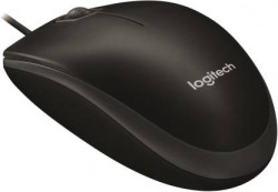 Logitech B100 Wired Optical Mouse  (USB, Black)
