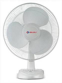 Bajaj Esteem Table Fan 400 mm 0 mm 3 Blade Table Fan  (White, Pack of 1)
