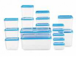 All Time Plastics Polka Container Set, 10.6 litres, Set of 17, Blue Rs. 297 - Amazon