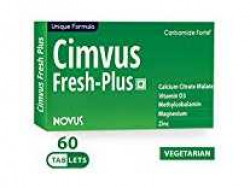 Carbamide Forte Cimvus Fresh-Plus Easily Absorbed Calcium + Extra Vitamin D3 & Vitamin B12 Supplements 60 Tablet at Rs.299 @ Amazon
