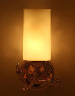 Somil Designer Sconce Wall Lamp/Light of Golden Metal and Glass with Fixture, Compatible with 5 to 60 Watt LED & Other Bulb