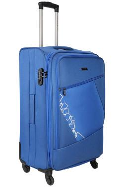Nasher Miles Bogota Expander Polyester Soft Side Blue 55cm Cabin Trolley Bag