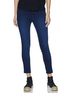 Flying Machine Women's Jeggings Jeans (FWFLJN122_ Dark Indigo_ 28)