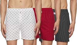 Longies Men's Printed Boxers (Pack of 3) (LGBOXPO3001S_Multicolour 1_Small)