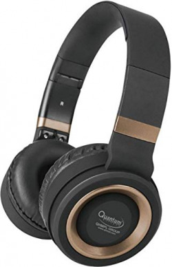 Quantam QHM3155 Over-Ear Bluetooth Wireless Headphones with Built in Mic,TF Card Option, FM, AUX Mode (Silver)