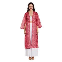 Rangmanch By Pantaloons Women's A-Line Kurta (110030698_Magenta_Small)