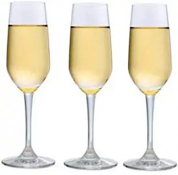 Ocean Champagne Crystal Clear Flute Glass 180 ml Set of 3