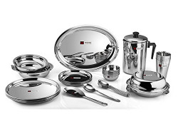 Butterfly Stainless SteelDinner Set - 30 Pieces, Silver