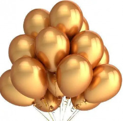 Mystic Toy Store Gold Metallic Finish Balloons for Birthday / Anniversary Party Decoration (Pack of