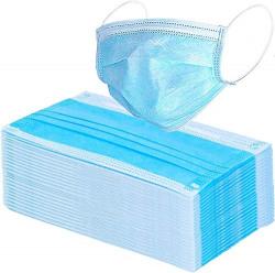 BHAVYATA Disposable Surgical Air Polution Mask Face Mask,Medical and Surgical Disposable Face Mask with Non Woven,Elastic Ear-Loop Blue - 50 Pieces & 100 Pieces (100 Face Masks)