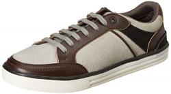 Amazon Brand - Inkast Denim Co. Men's M.Grey/Brown Sneakers-10 UK (44 EU) (11 US) (AZ-IK-005)