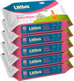 Little's Soft Cleansing Baby Wipes with Aloe Vera, Jojoba Oil and Vitamin E (80 N x 5 Pack of)(400 Wipes)