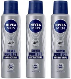 Nivea Men Silver Protect Deodorant Spray 150ML Each (Pack of 3) Deodorant Spray  -  For Men(450 ml, Pack of 3)