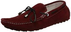 Woodland Men's Red Leather Boat Shoes - 5 UK/India (39 EU)