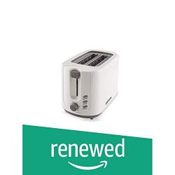 (Renewed) OSMON 2-Slice Pop-up Plastic Toaster with Lid, 8 Quart