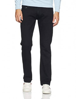 Lee Men's Slim Fit Jeans (L30454248147040033_Mm Printed Jet Black)