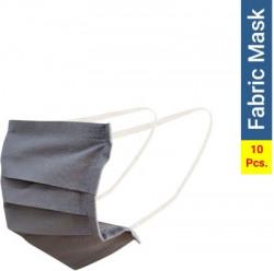 Flipkart SmartBuy Cotton Fabric Washable Face Mask Fabric Mask FM1004-2P.10(Grey, Pack of 10)