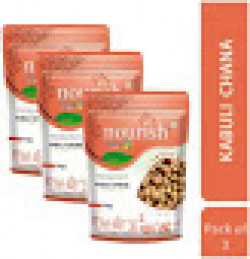 Nourish Kabuli Chana Chickpeas Unpolished and Natural Pack of 3 (1 Kg Each)