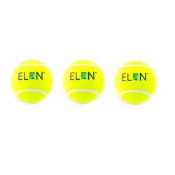 Elan Heavy Tennis Cricket Ball, Pack of 3 (Green)